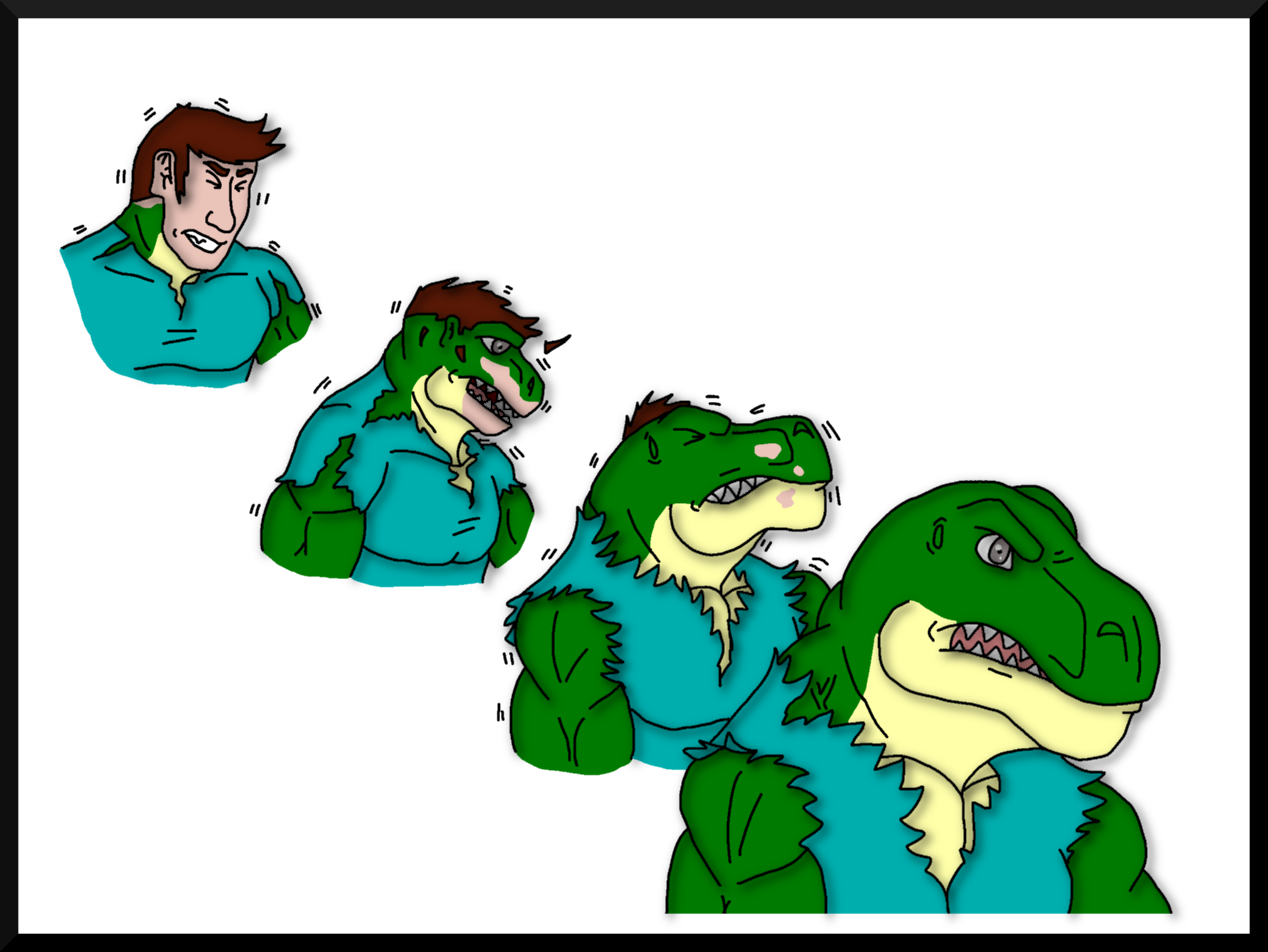 Extreme Dinosaurs- Stegz and Kacia by Coolterra342 on
