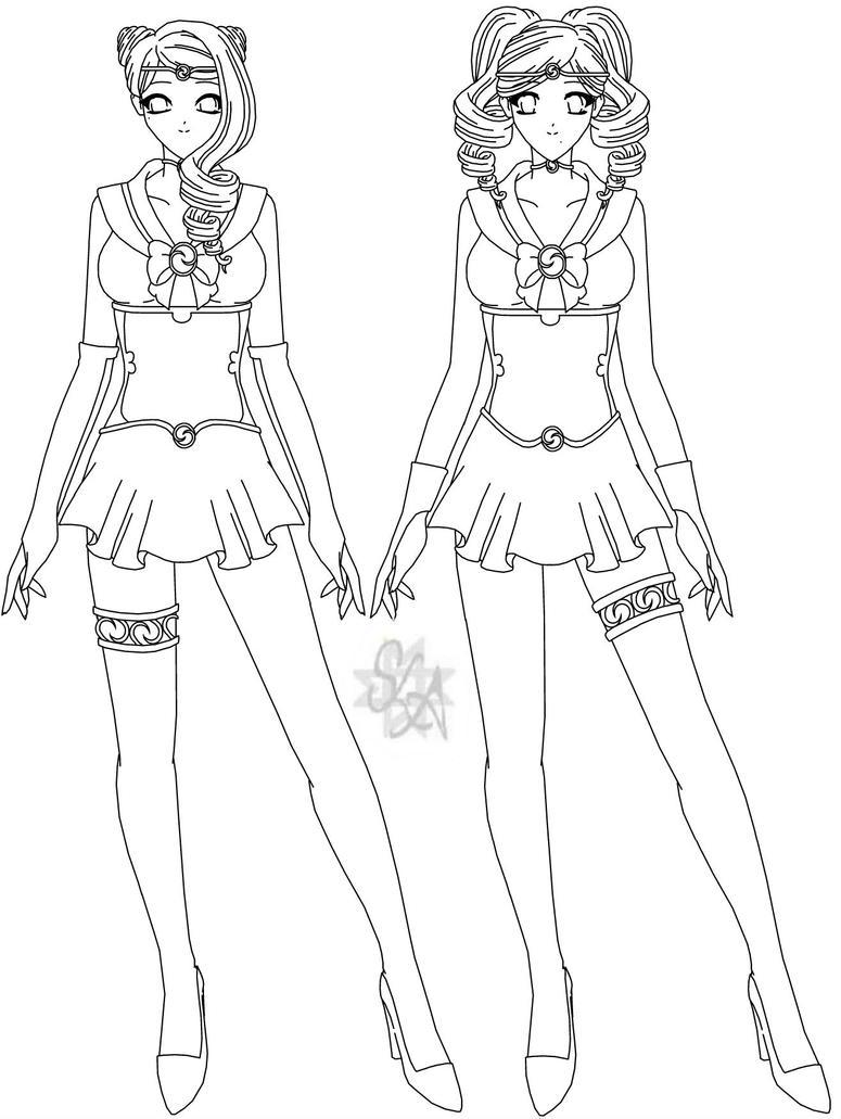 Sailor Kosmos and Sailor Galaksija - Lines by SailorLunarAngel