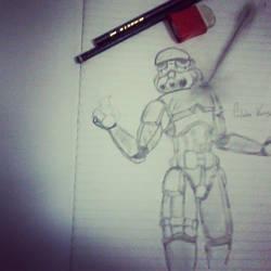A queda do Stormtrooper by calebex