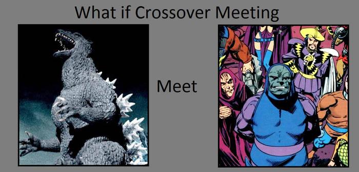 Godzilla vs. Darkseid and His Elite