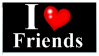 i love friends stamp by BraveMoonGirl