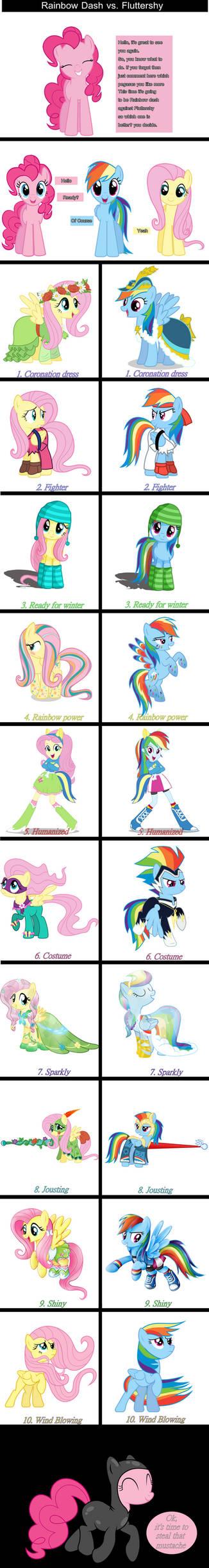 Fluttershy VS. Rainbow Dash