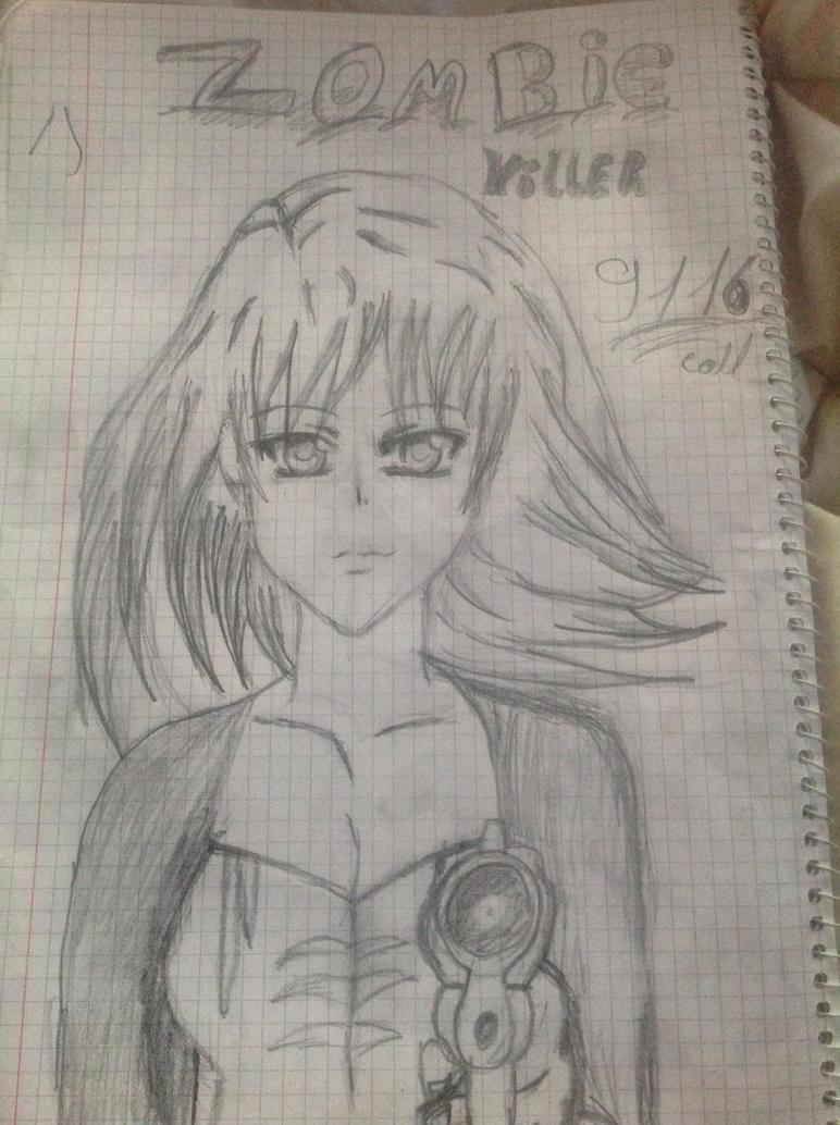 Manga zombie killer by BraveMoonGirl