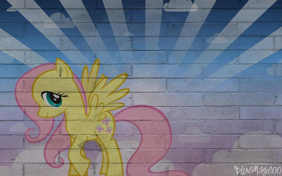 Fluttershy Wall Art by sum-dum-gai