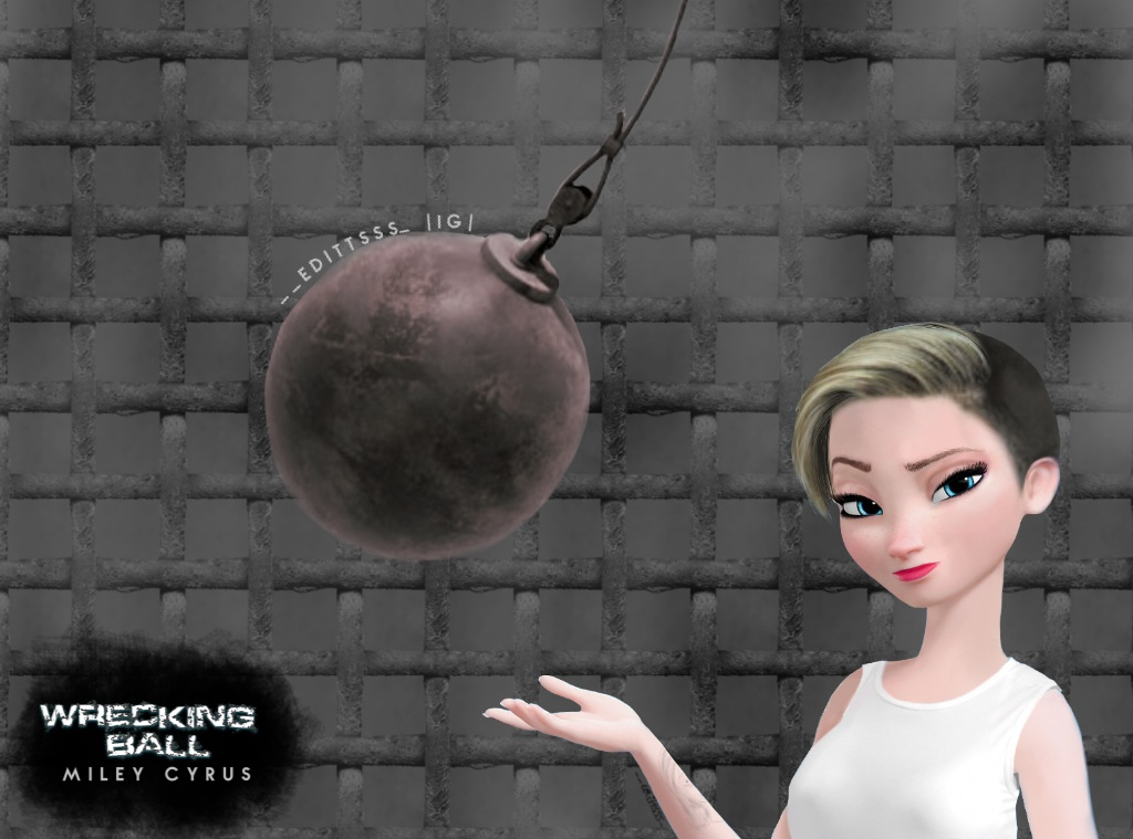 Miley Cyrus-Wrecking Ball by Editttsss