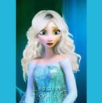 Elsa let her hair down!