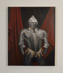 Suit of Armor - Original Acrylic Painting by DaveSenterArt