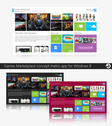 Windows Games Marketplace Concept by sharkurban