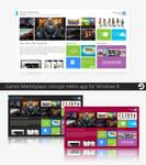 Windows Games Marketplace Concept