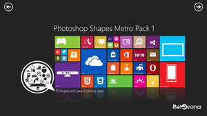 Metro Shape for photoshop pack 1