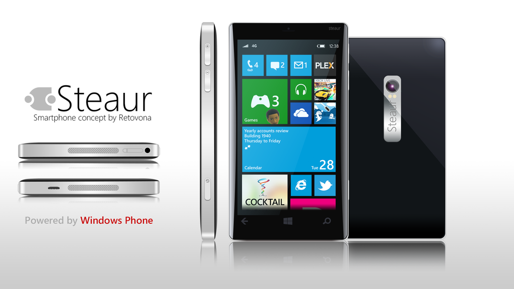 Steaur, Windows phone Concept by sharkurban