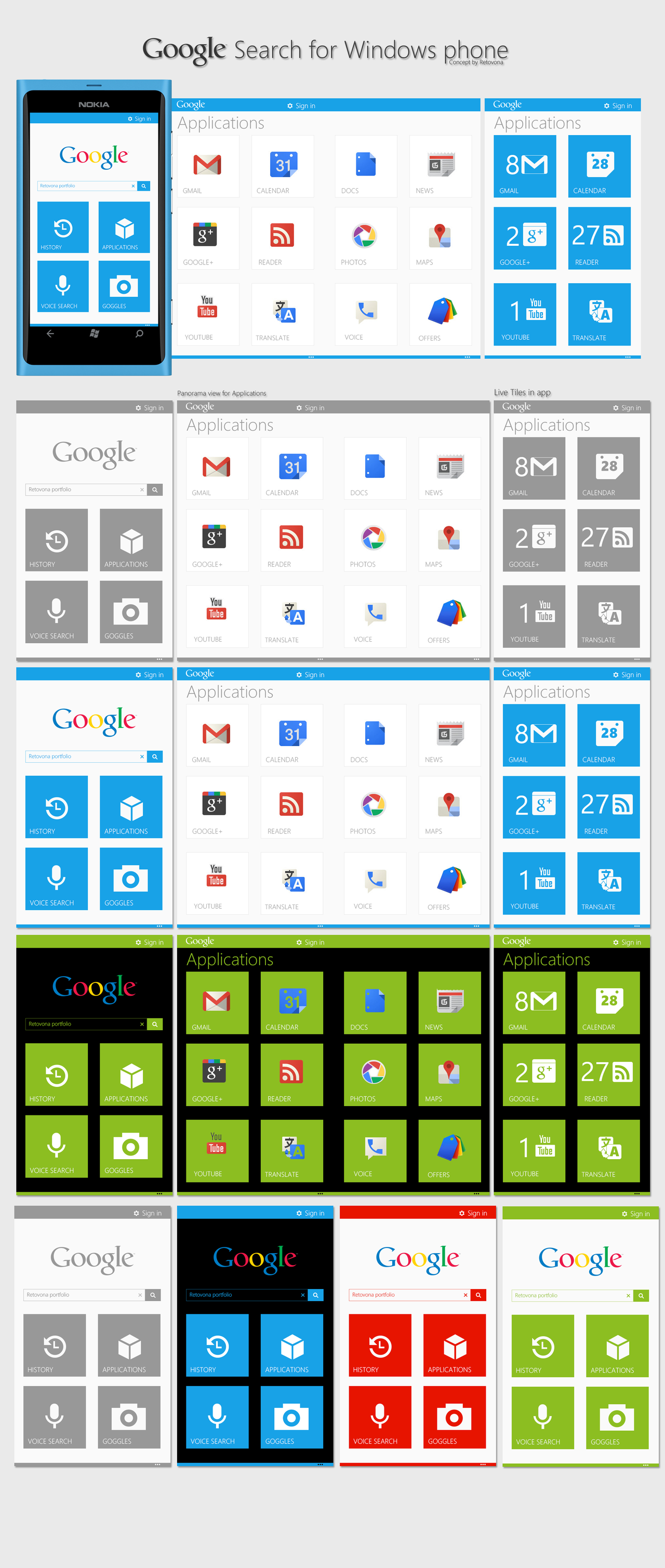 Google Search for Windows phone Concept by sharkurban