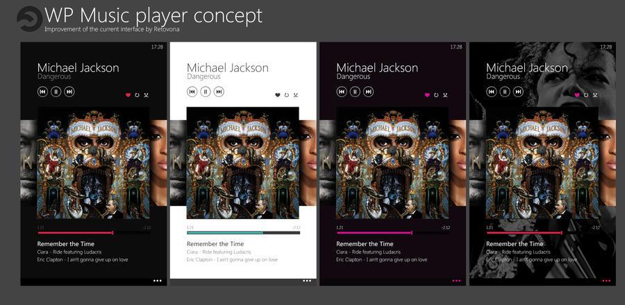 Xbox music Concept on Windows phone by sharkurban