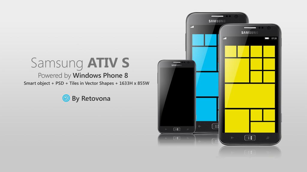 Samsung Ativ S PSD, windows phone 8 by sharkurban