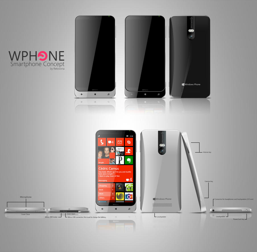 Wphone, Windows phone Concept by sharkurban