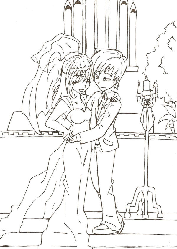 Line Drawing Wedding Couple : The wedding line art by mess anime artist on deviantart