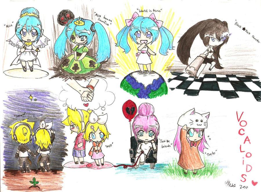 Vocaloids by MESS-Anime-Artist