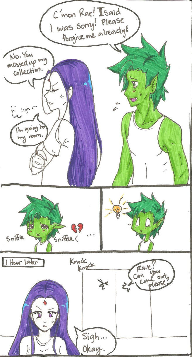 Beastboy and raven kids