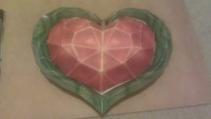 Twilight Princess Heart Container-Papercraft by MESS-Anime-Artist