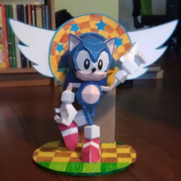 Classic Sonic Papercraft By Mess Anime Artist On Deviantart