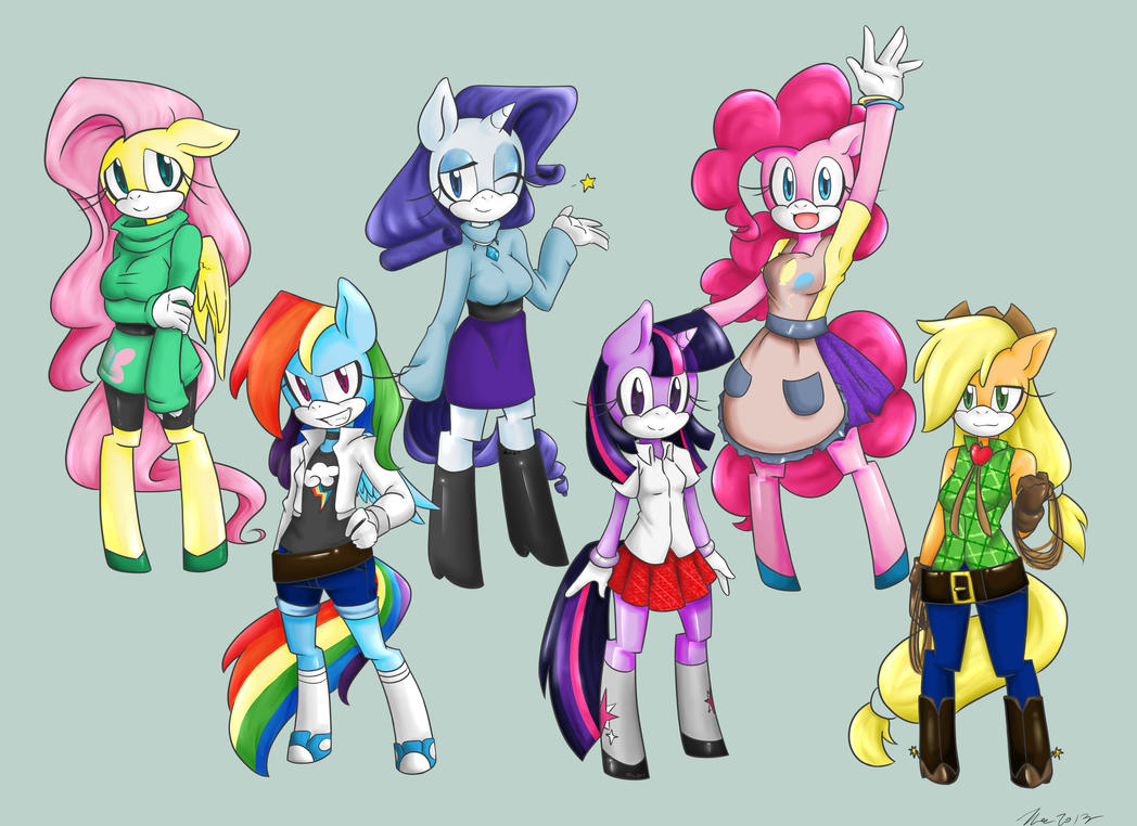 MLP FIM Sonic Style By MESS Anime Artist