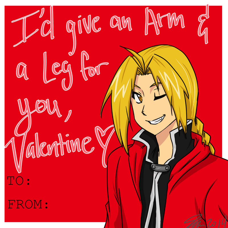 Edward Elric Valentines Card by MESSAnimeArtist on DeviantArt