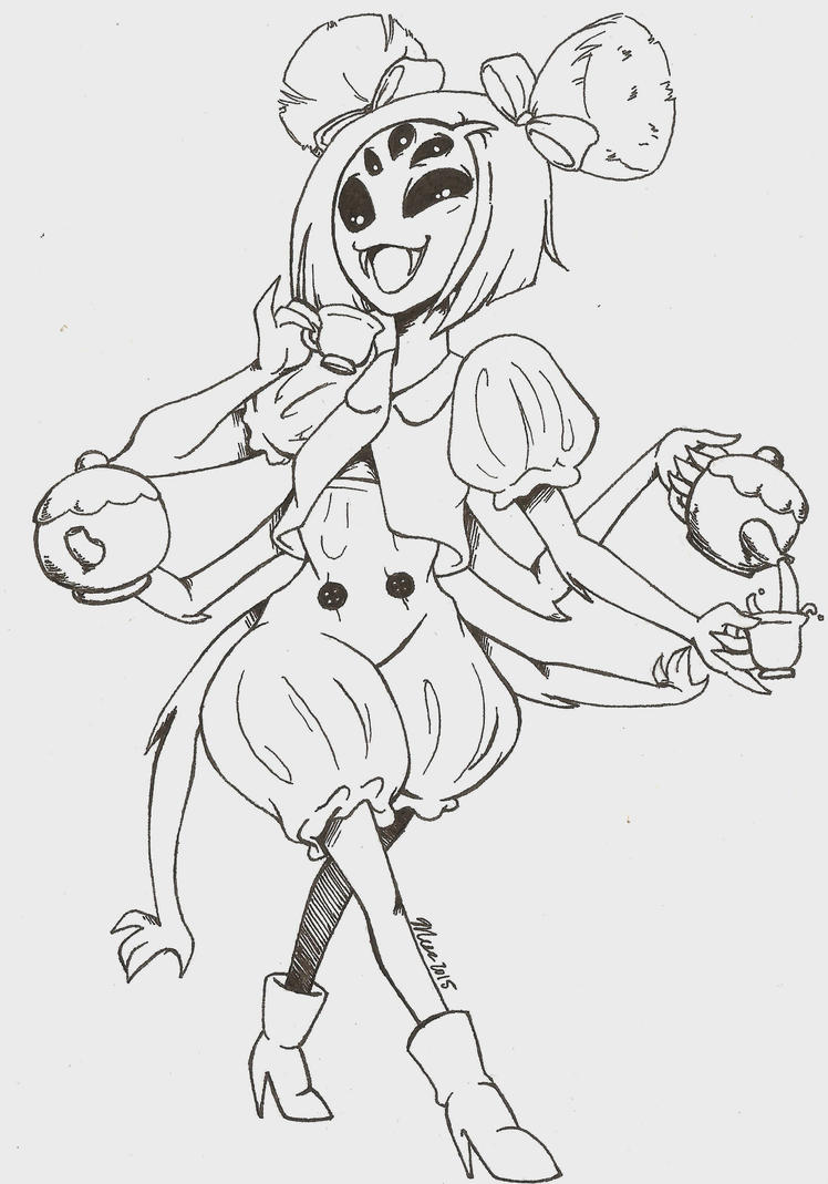 Muffet Undertale Inktober 2015 Doodle 5 By Mess Anime