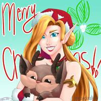 Jinx Christmas-2017 by MESS-Anime-Artist