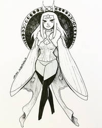 Inktober day 25-Insect Witch by MESS-Anime-Artist