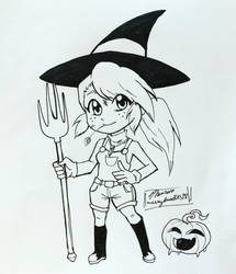 Inktober day 26-Farm Witch by MESS-Anime-Artist