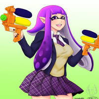 Grown up Inkling by MESS-Anime-Artist