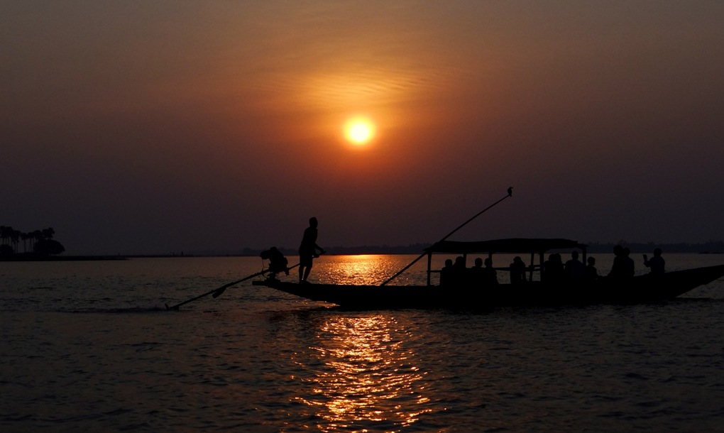 Sunset at Chilika Lake, Puri by The--Dark--Knight