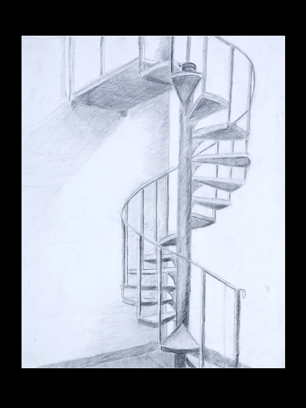 Pin spiral drawing on pinterest for Spiral stair dwg