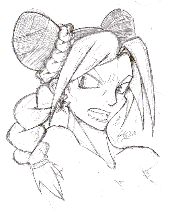 Jolyne sketch by ReluctantZombie