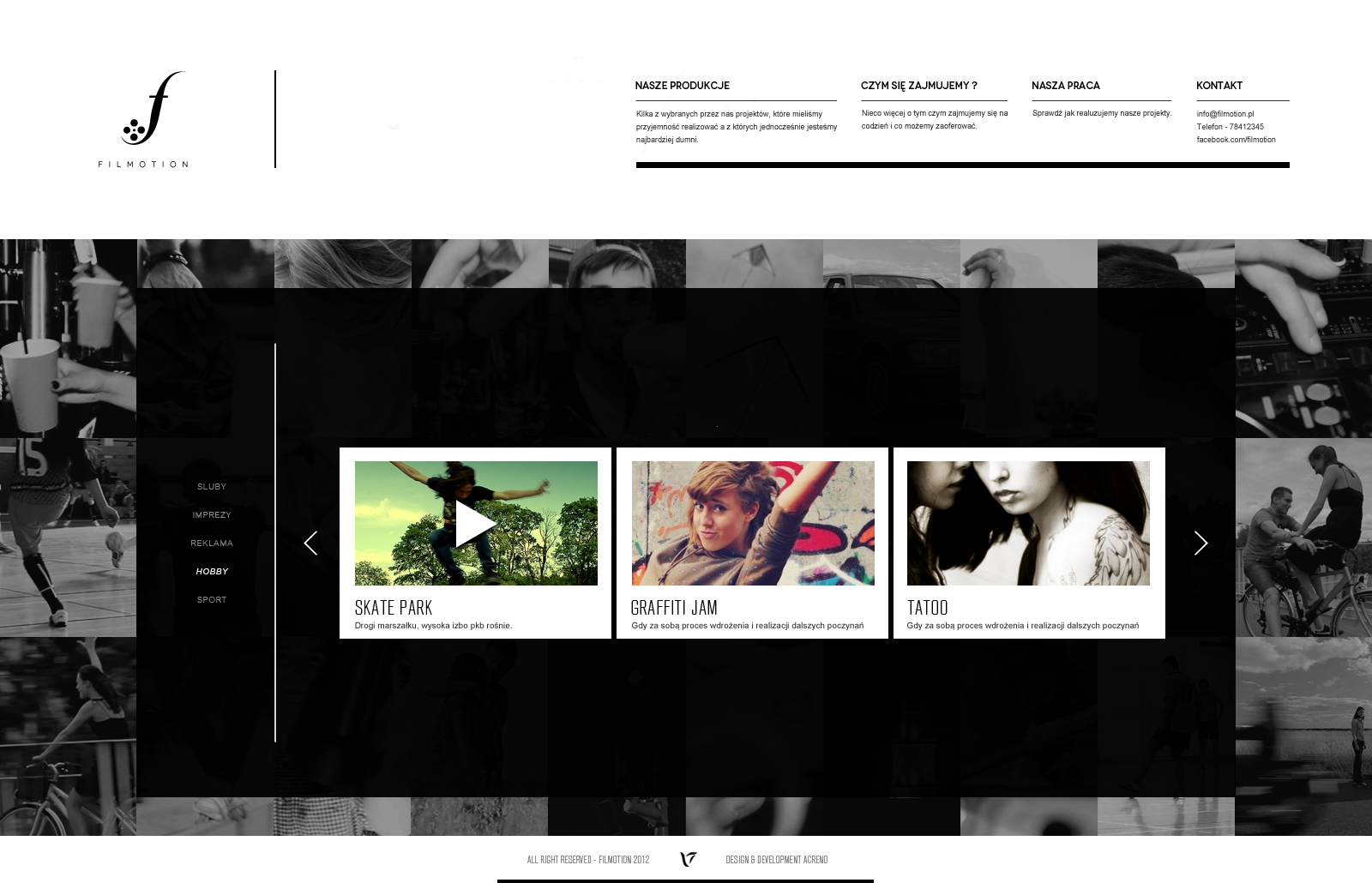 FILMOTION web / subpage by The-Grin