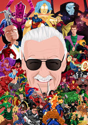 Stan Lee Tribute Art by remle012