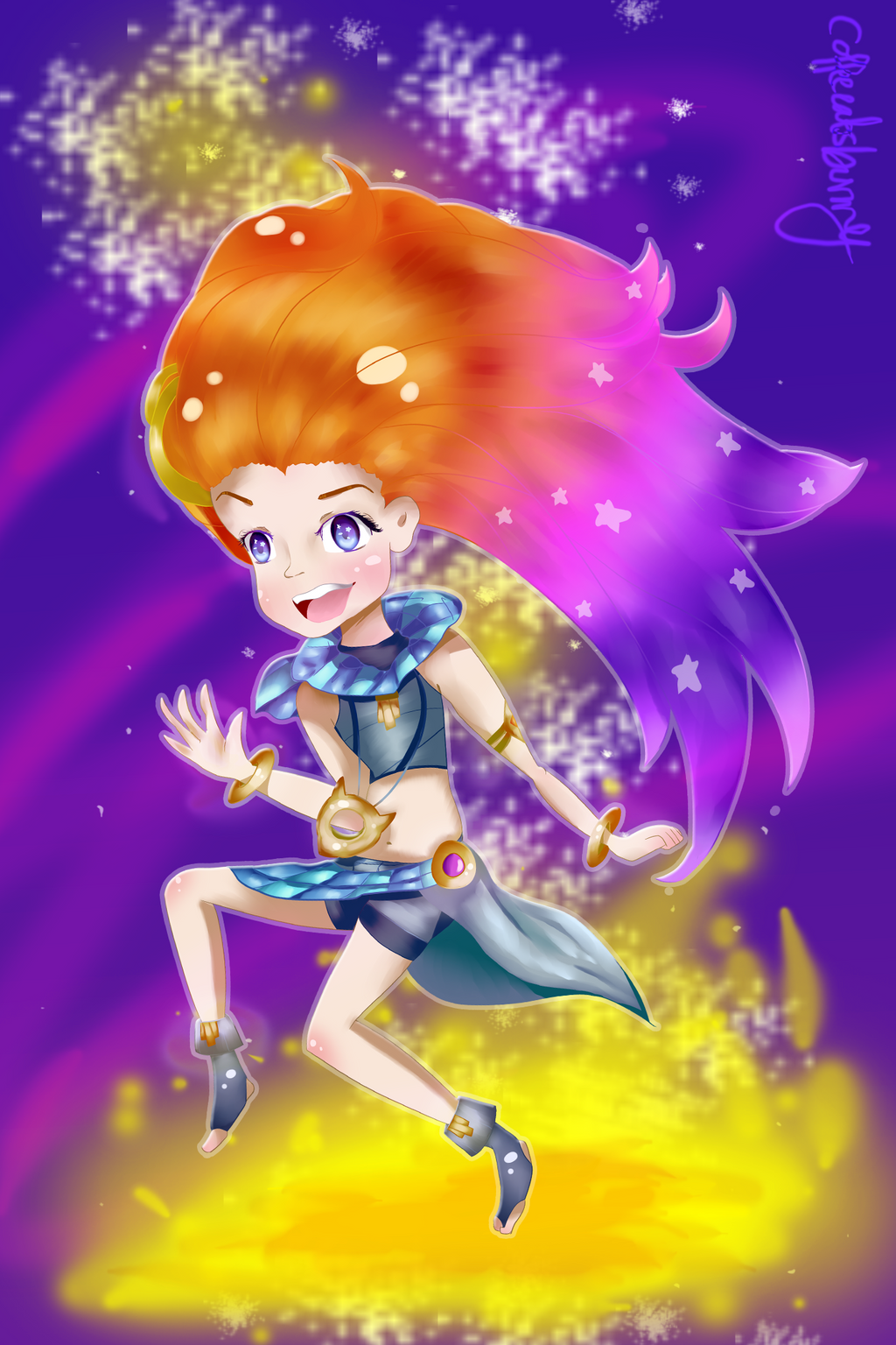 {League of Legends} Zoe Fan art by CoffeeEatsBunny