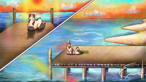 Commission of a Cat on a Pier