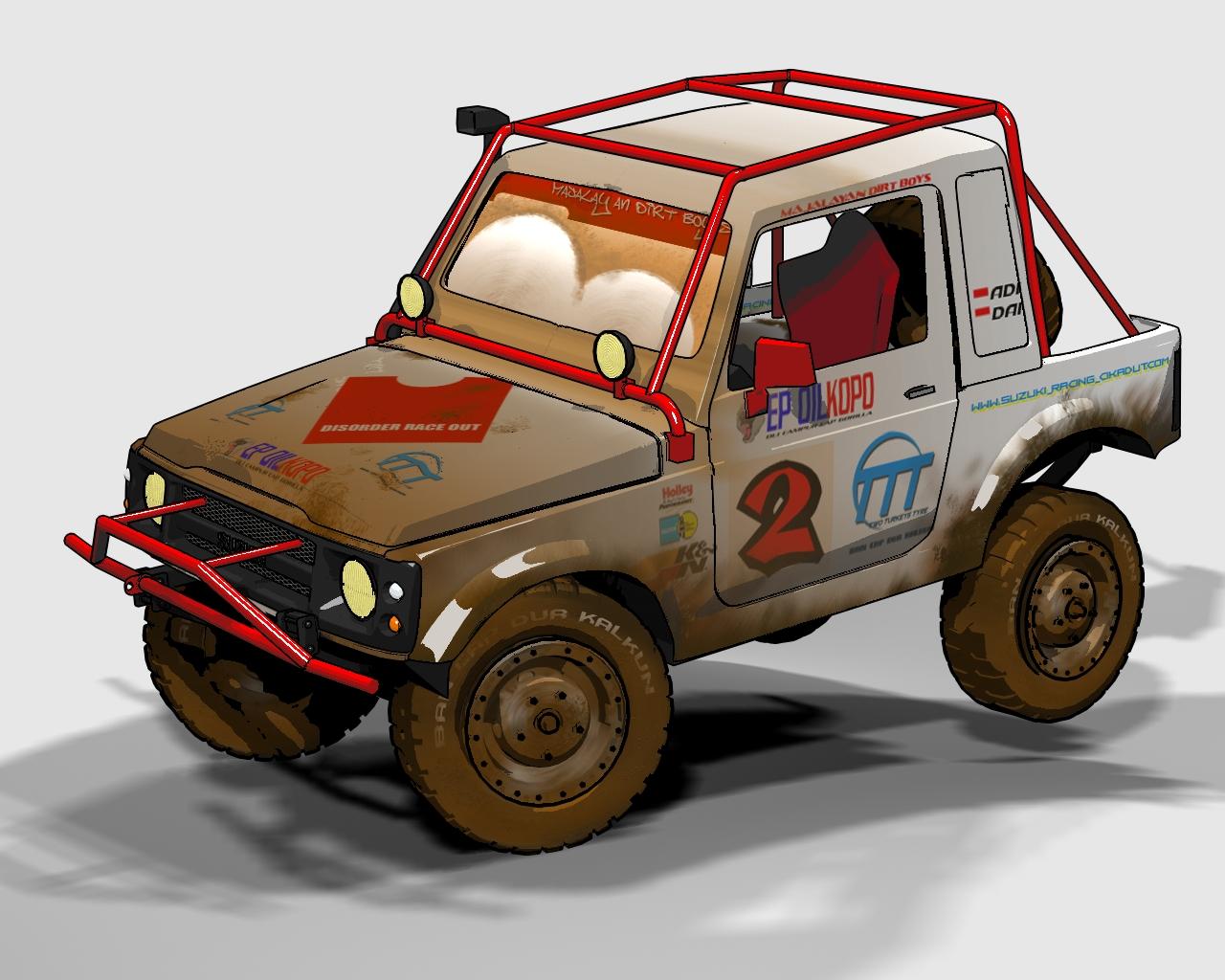 Suzuki Samurai Logo Vector (.EPS) Free Download  |Cartoon Suzuki Samurai