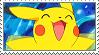 Pikachu Stamp by ushimooshroom