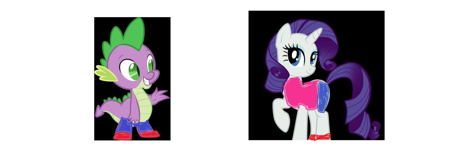 Spike as Crash and Rarity as Tawna by finlaythetinytoonfan ...