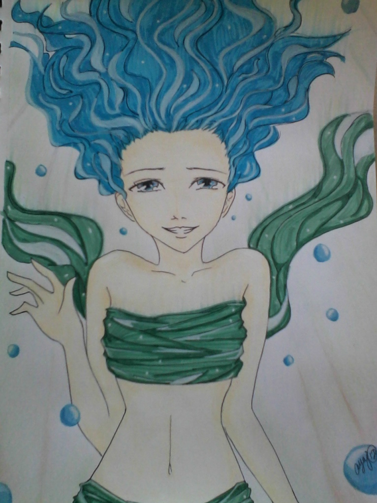 Blue in the Sea by ayaj05