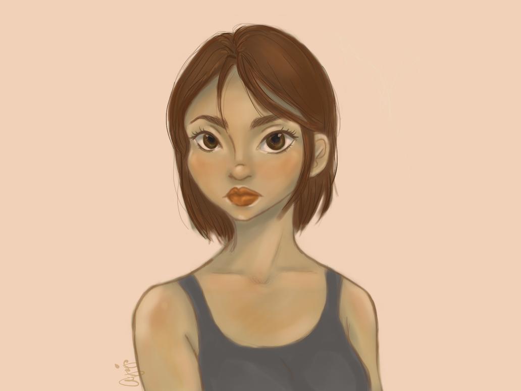 Short hair Drawing by ayaj05