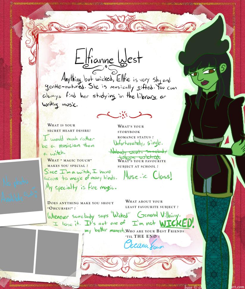 Elfianne West Bio Box by CharmArtist