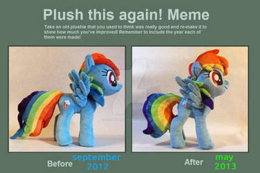 Plush this again Rainbow Dash