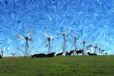 Van Gogh Windy Cow