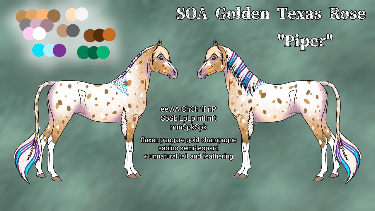 N5321 - SOA Golden Texas Rose AKA Piper