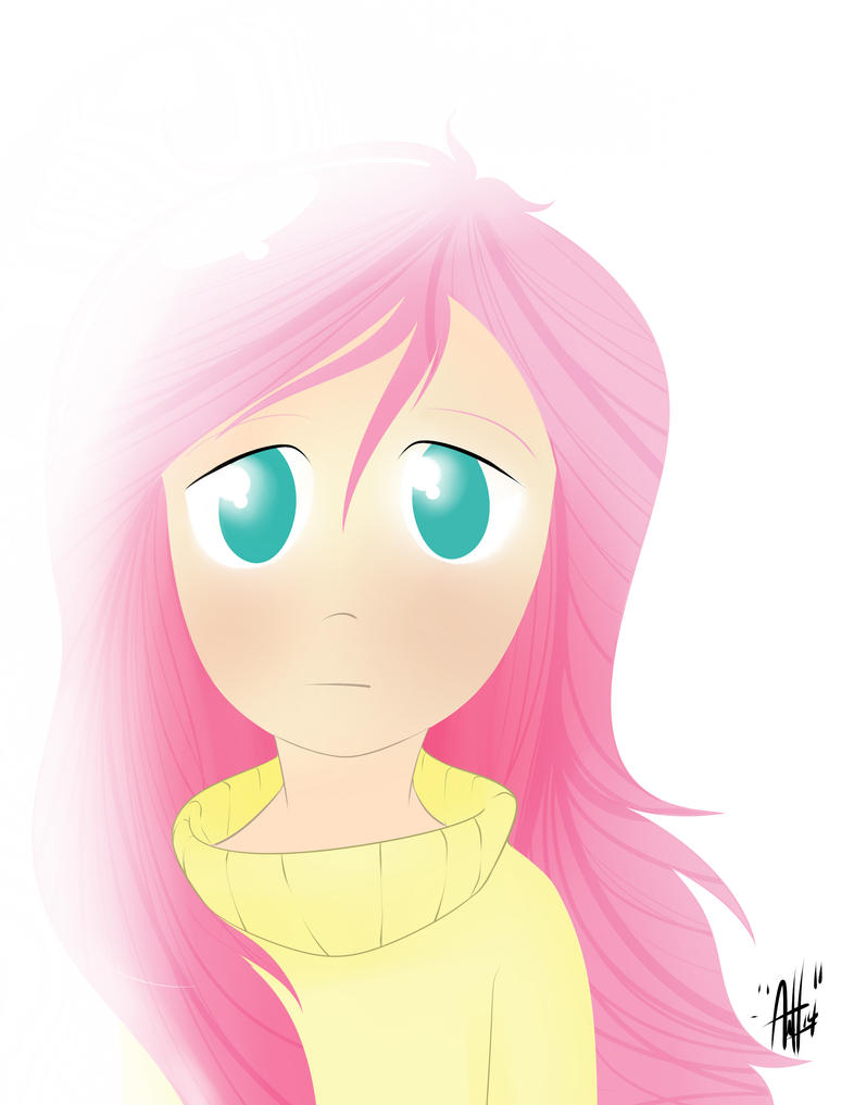 Human Fluttershy by anon3mau5