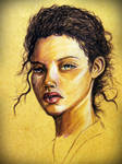 Colored Pencil Drawing : A Brown Skinned Girl