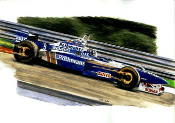 Damon Hill, Williams-Renault 1996 by Leotrek